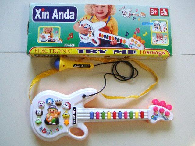 ZZZ. Детская гитара с микрофоном.Арт.Б956М