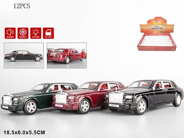 "ZZZ.Машина металл""Роллс-Ройс"" свет.звук.инерц.Арт.A66039 Цена за 12 штук."