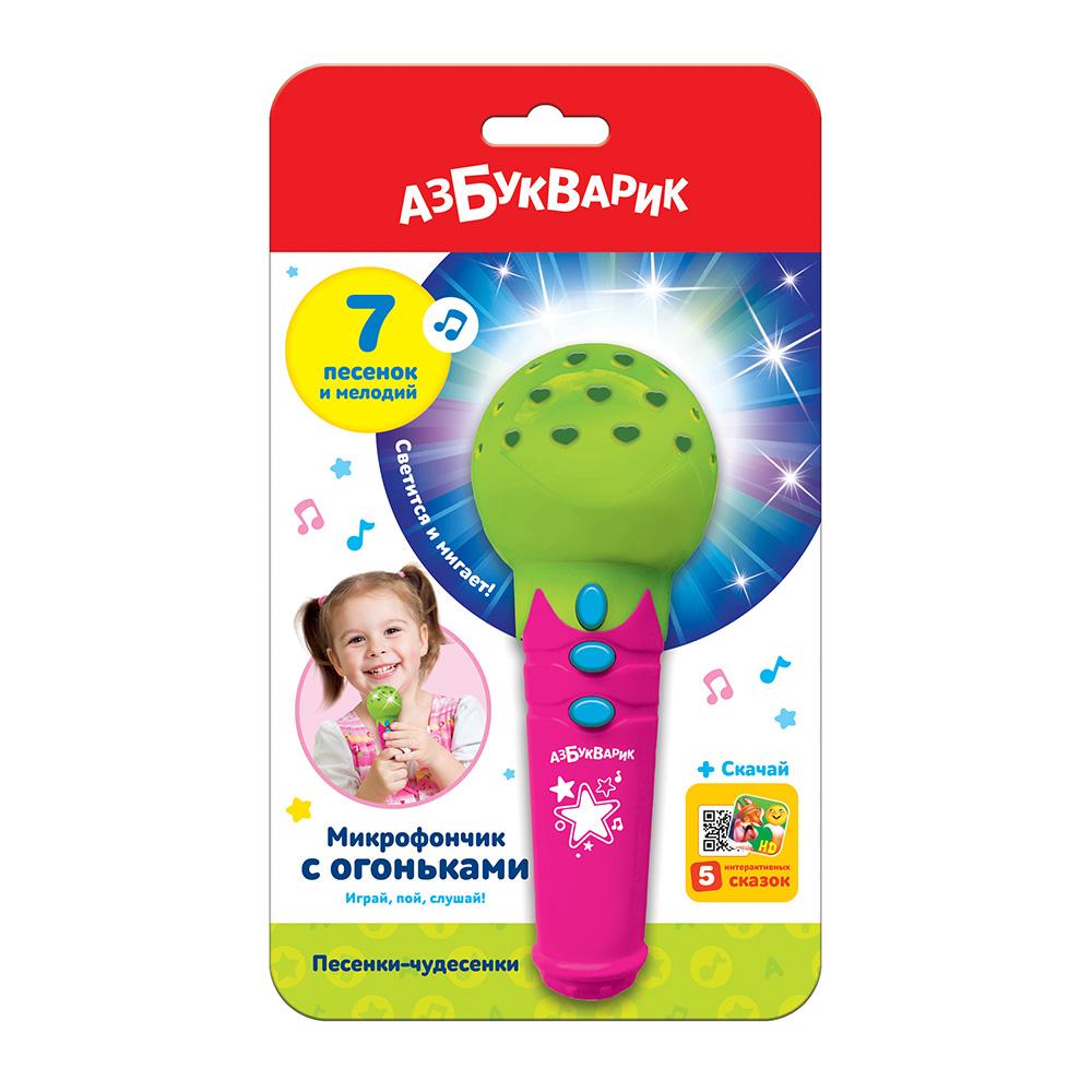"""Азбукварик.Микрофон""""Зеленый""""штрих:4680019284828.Размер упак.12,5*19,5*5,8см."""