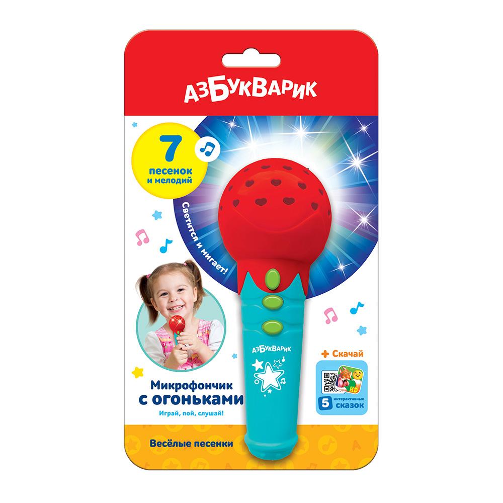 """Азбукварик.Микрофон""""Красный""""штрих:4680019284767.Размер упак.12,*19,5*5,8см."""