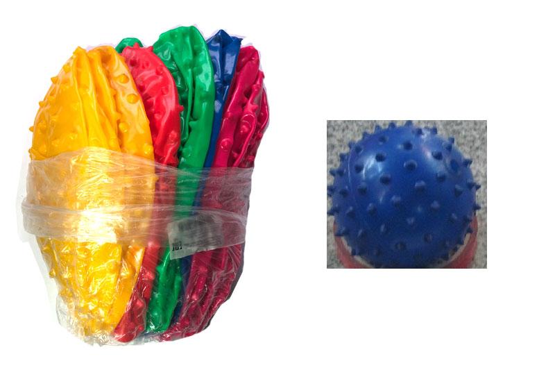 Мяч резиновый с шипами. 25см.Разные цвета.Арт.А01417