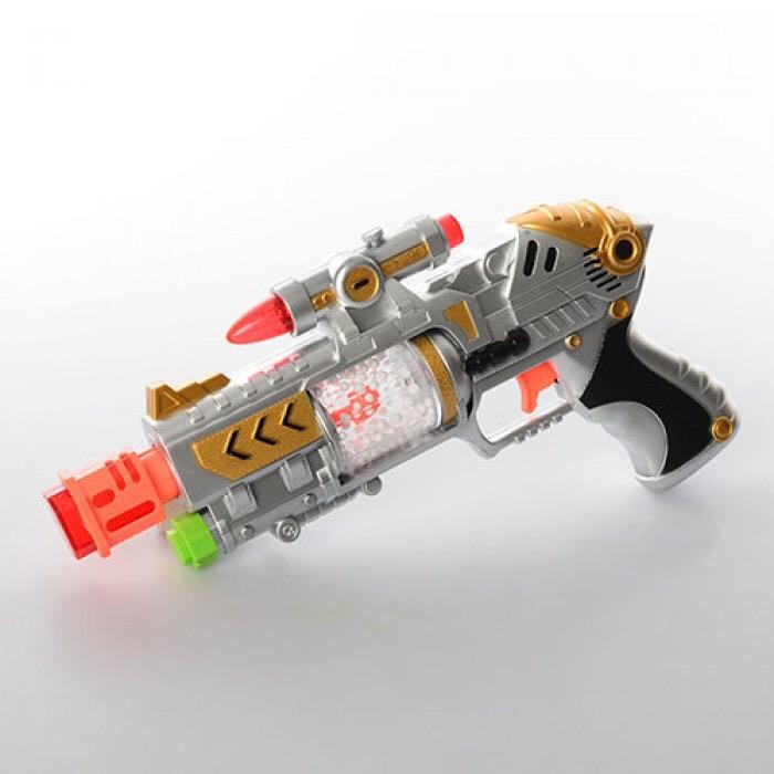 Пистолет на батар.звук.в пакете.(снежок) Арт.F987