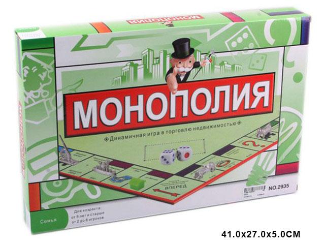"""ZZZ. Игра""""Монополия""""Арт.Ф2935"""