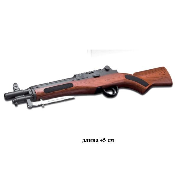 Ружье(обрез)пластмассовый,стреляет пласт.пульками.Арт.715